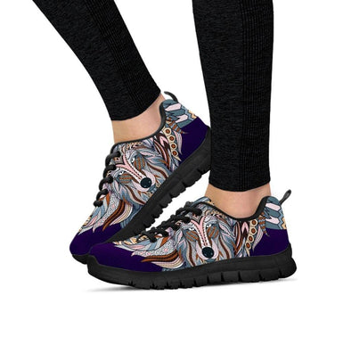 Colorful Zendoodle Wolf Head Sneakers