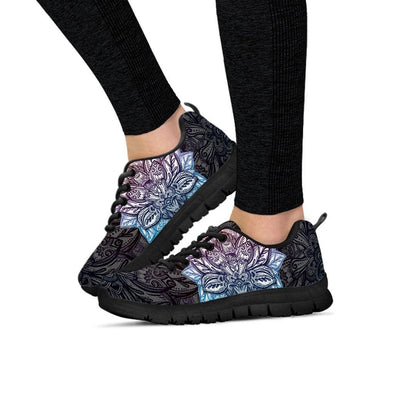 Womens Lotus Mandala Sneakers