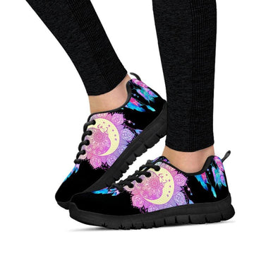Colorful Moon Fractal Sneakers