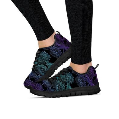 Fractal Lotus Dragonfly Sneakers.