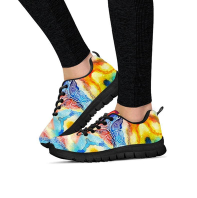 Colorful Butterfly Fractal Sneakers