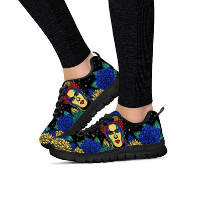 Womens Frida Kahlo Floral Sneakers.