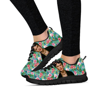 Womens Frida Kahlo Flowers Sneakers.