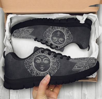 Limited Time 60% Artistic Sun and Moon Lotus Handcrafted Sneakers