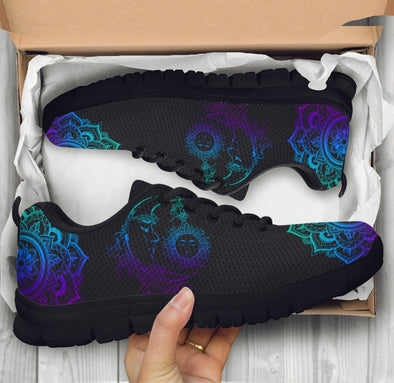Blue Purple Sun and Moon 3 Sneakers