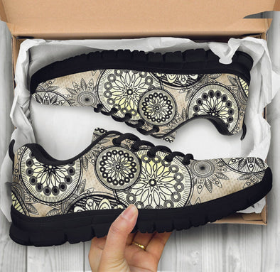 White Mandalas Sneakers