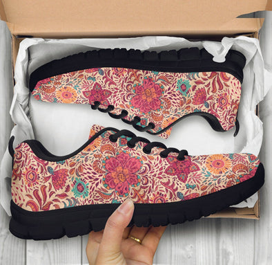 Limited Time 60% Pink Flower Fractal Mandala Handcrafted Sneakers