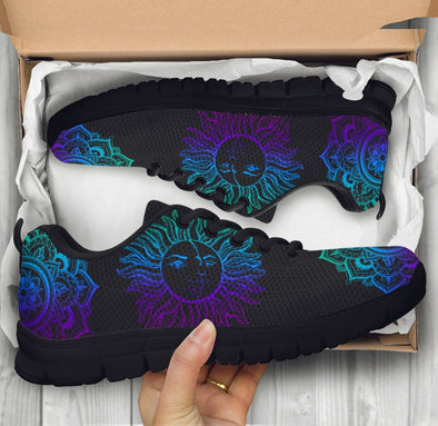 Blue Purple Sun and Moon 2 Sneakers