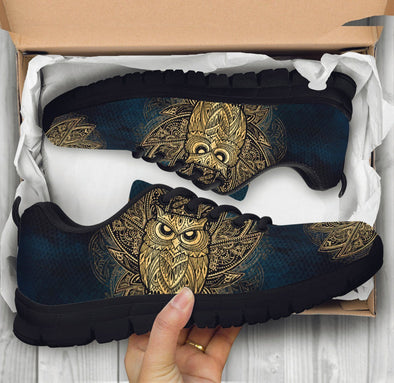 Gold Owl Sneakers .
