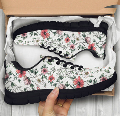 White Floral Chic Sneakers