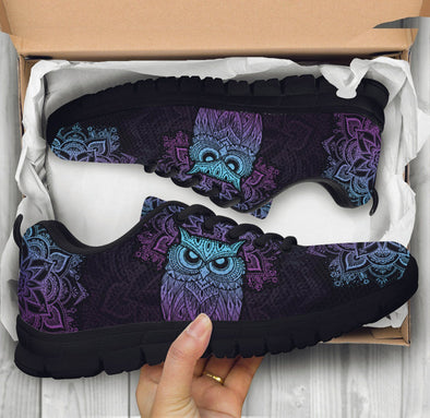 Limited Time 60% Purple Owl Handcrafted Sneakers .
