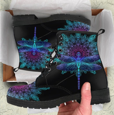 HandCrafted Mandala Dragonfly Boots