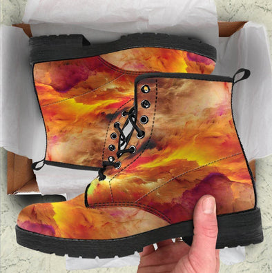 HandCrafted Fiery Abstract Boots