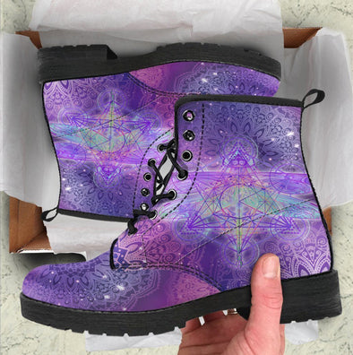HandCrafted Glowing Mandala Dragonfly Boots