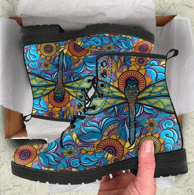 HandCrafted Abstract Dragonfly Boots