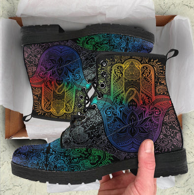 HandCrafted Colorful Hamsa Hand Boots