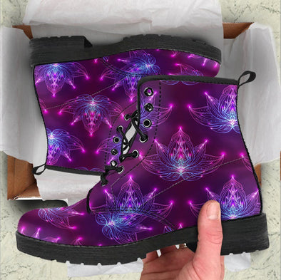 Handcrafted Glowing Lotus Boots