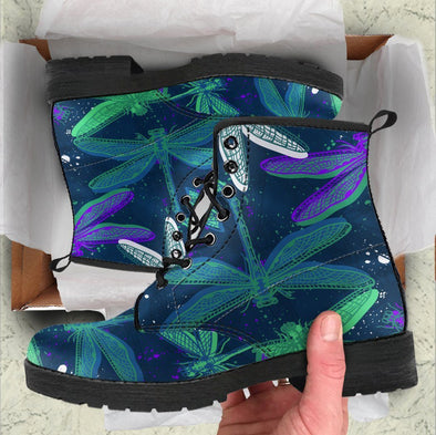 Handcrafted Mystical Dragonfly  Boots
