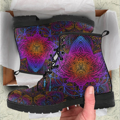 HandCrafted Purple Lotus Boots