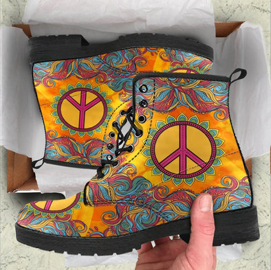HandCrafted Peace and Love Boots