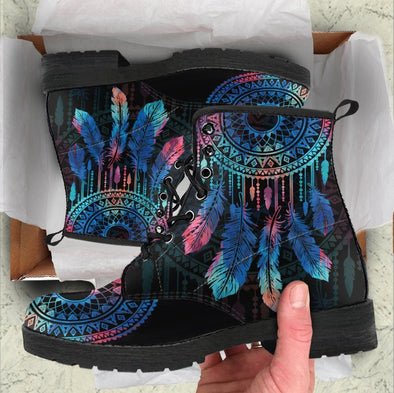 HandCrafted Feather Dreamcatcher Mandala Boots