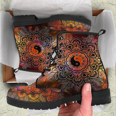 HandCrafted Colorful YinYang Boots
