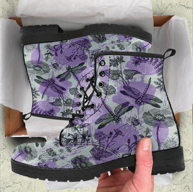 Handcrafted Dragonfly Flowers 3 Boots