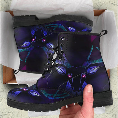 Handcrafted Purple Spiritual Deer Boots.