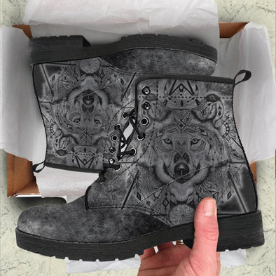 Handcrafted Grungy Wolf Boots