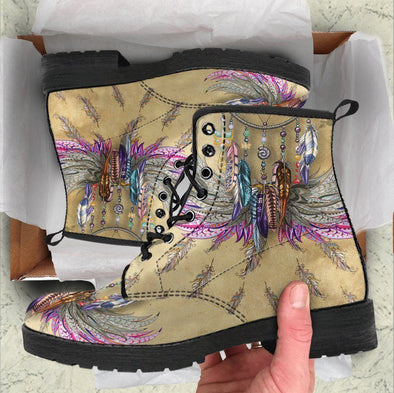 Clearance Colorful Ethnic Feather Boots