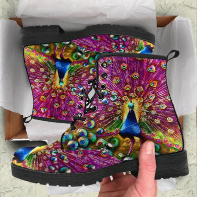 HandCrafted Colorful Peacock Boots