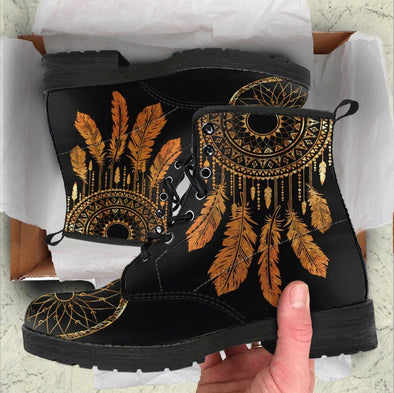 HandCrafted Golden Dreamcatcher Mandala Boots