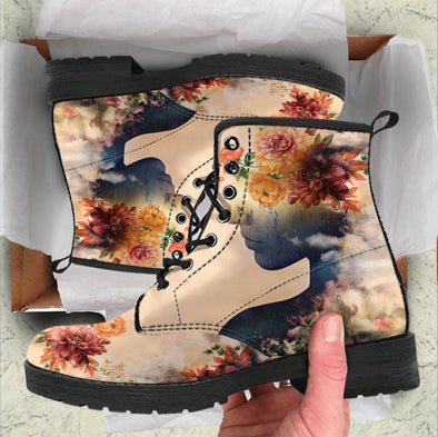 HandCrafted Women Flowers Boots