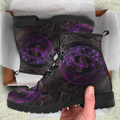 Handcrafted Butterfly Lotus 1 Boots