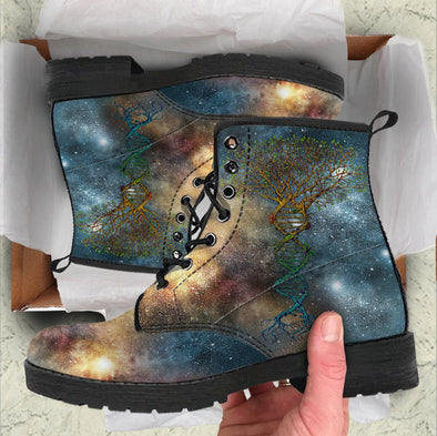Handcrafted Galaxy Tree 3 Boots