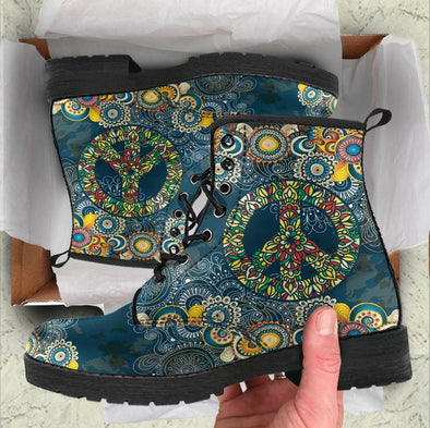 HandCrafted Peace Mandala Boots