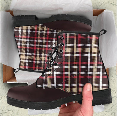 Handcrafted Preppy Plaid Boots