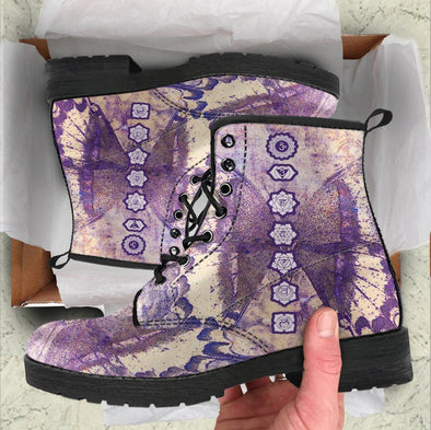 Handcrafted Chakra Butterfly Boots