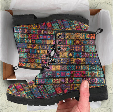 Handcrafted Bohemian Pattern 1 Boots