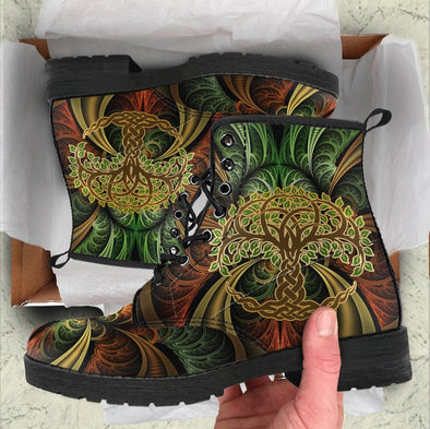 Handcrafted Tree of Life 3 Boots