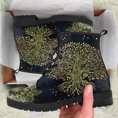 HandCrafted Golden Tree of Life Boots