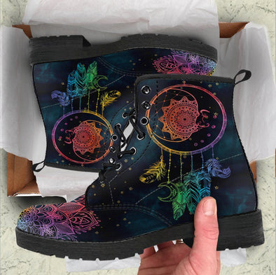 Handcrafted Colorful Moon Dream Catcher Boots