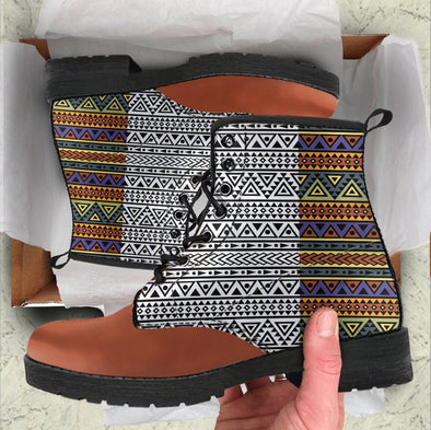Handcrafted Multi-color Tribal Boots