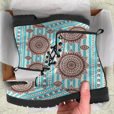 Handcrafted Henna Flower Mandala Boots