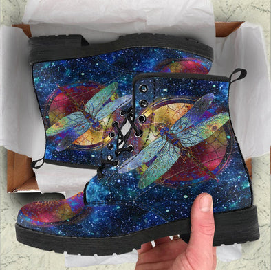 HandCrafted Glaxy Dragonfly Boots