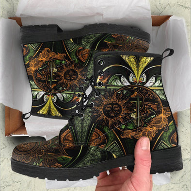 HandCrafted Fractal Sun and Moon Boots