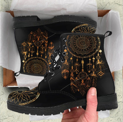 HandCrafted Golden Mandala Dreamcatcher Boots