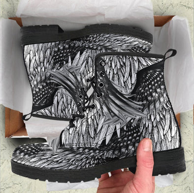 HandCrafted Artistic Feathered Boots