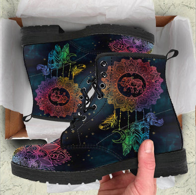Handcrafted Colorful Elephant Dream Catcher Boots
