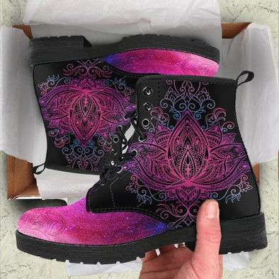 Handcrafted Lotus Mandala Boots